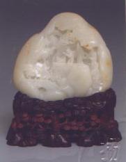 白玉籽《放鹤图》