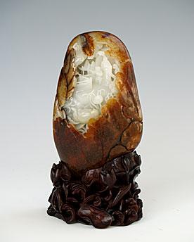 白玉籽《赏莲图》