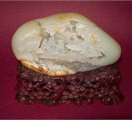 白玉籽《三仙观画》