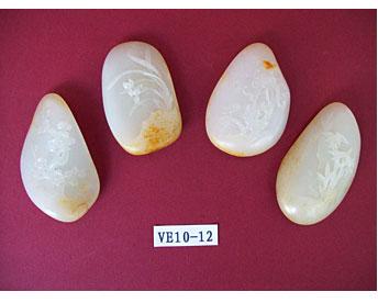 白玉籽《梅兰竹菊套件》