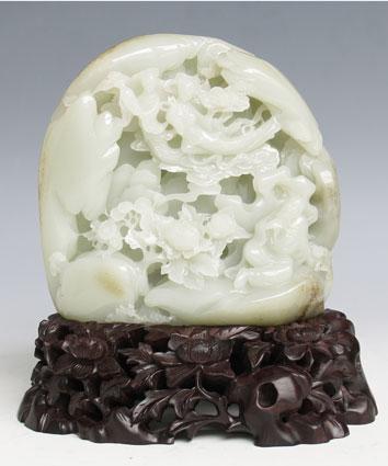 白玉籽《秋翁遇仙》