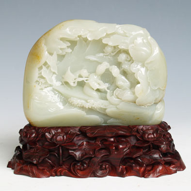 白玉籽《采莲图》