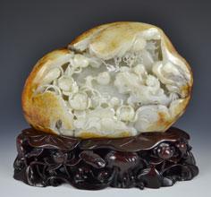 白玉籽《戏鸳图》