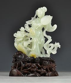 白玉籽《扑蝶》